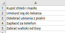 Interaktywna Lista Zadań Na Dziś To Do W Ms Excel Tm Project